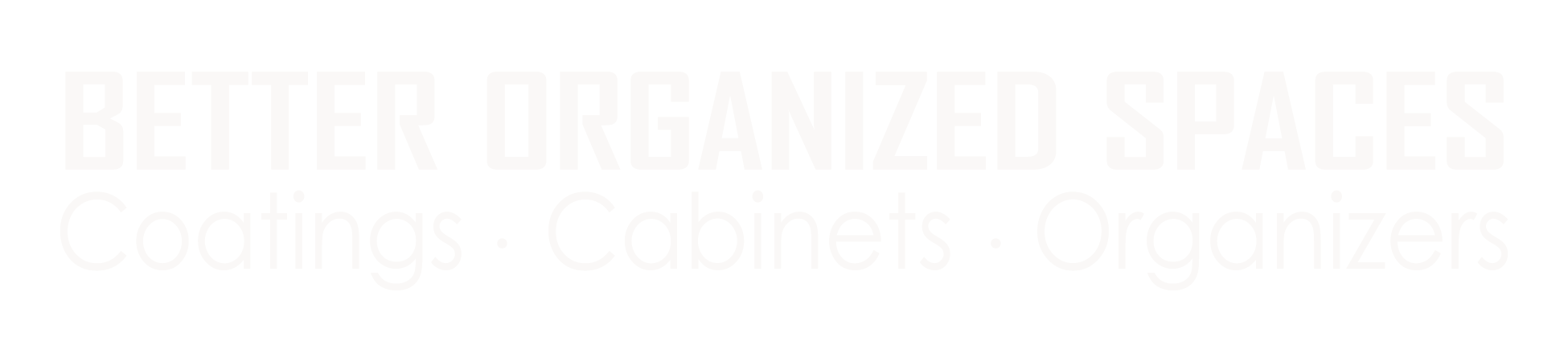 Better Organized Spaces logo